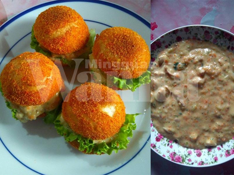 thai bread creamy chicken ala burger malaysia tapi nak