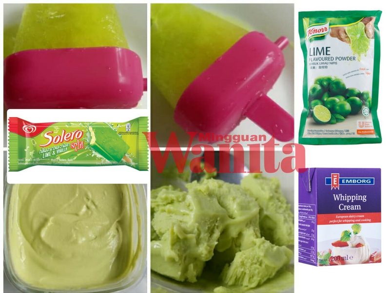 Cara Buat Sendiri Aiskrim Homemade Ala Lime & Vanilla Solero, Rasa Sama Macam Beli Dekat Kedai