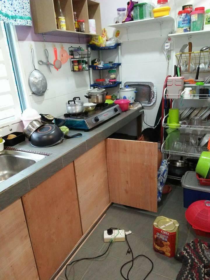 Cuma 2 Minggu Siapkan DIY Pintu Kabinet Dapur Bajet, Kata ...