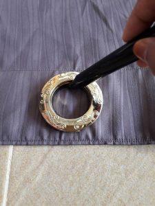 Cara Membuat  1.Letak ring dan ukur bagi anggaran sama rata. Untuk bidang  60 boleh letak 8 keping. d2a51524b7