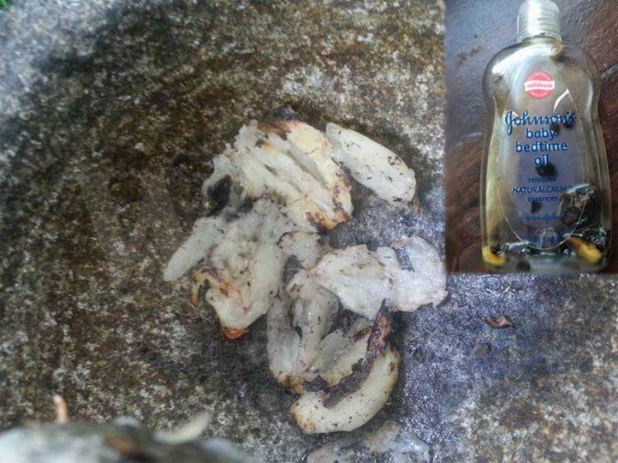 kesan minyak bawang putih
