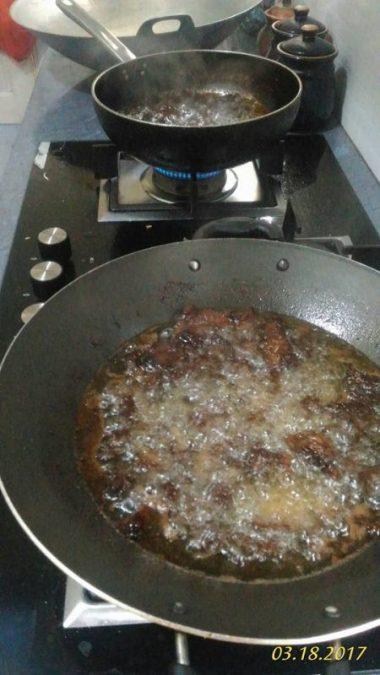 daging rendang dendeng