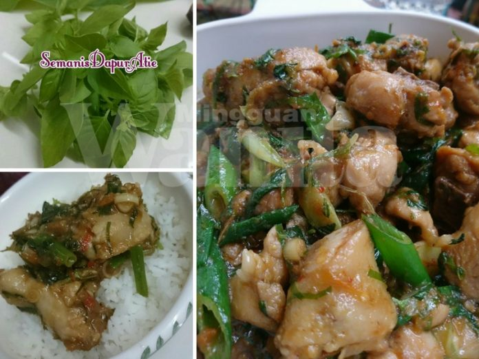 Resepi Rahsia Ayam Rica Rica Pedas Lagi Sedap, Daun Kemangi Tu Pembangkit Aroma