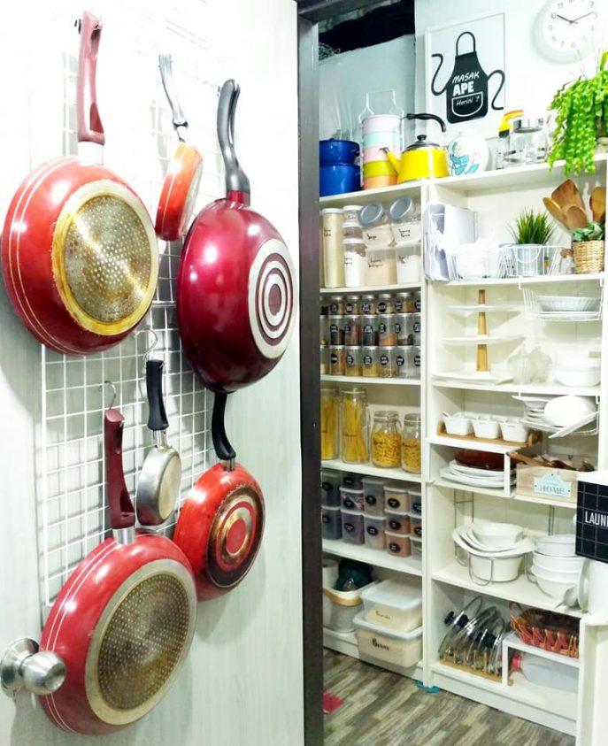 Jom Tengok Barang Apa Yang Dia Guna Di Dapur Kecilnya Sampai Hasilnya Stor Dah Bertukar Jadi Pantry Ala Farmhouse