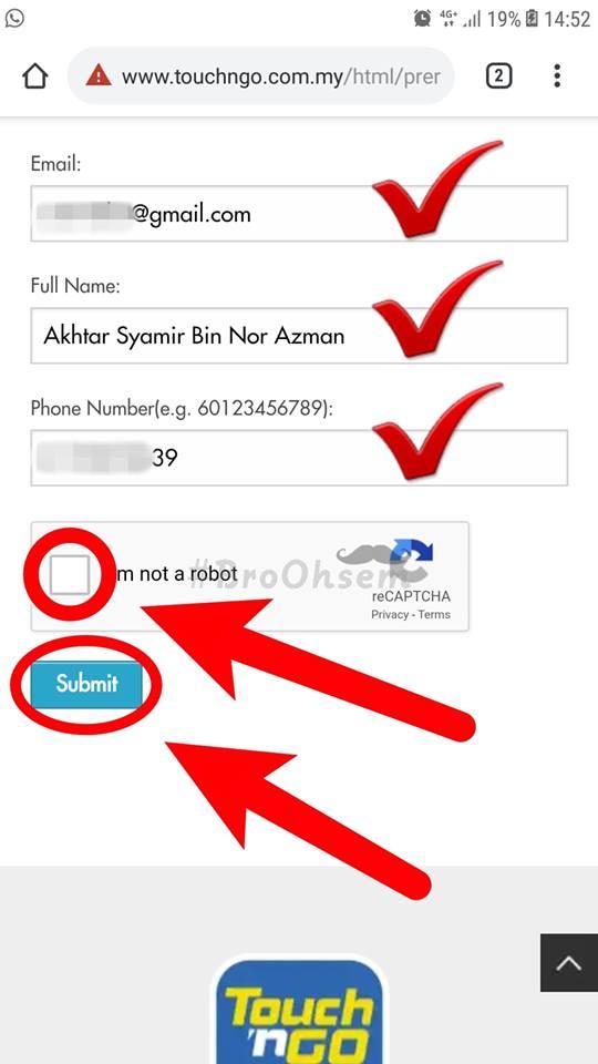 Cara Daftar Touch 'n Go RFID, Sebelum Tutup Baik Isi Borang Online Ni Cepat
