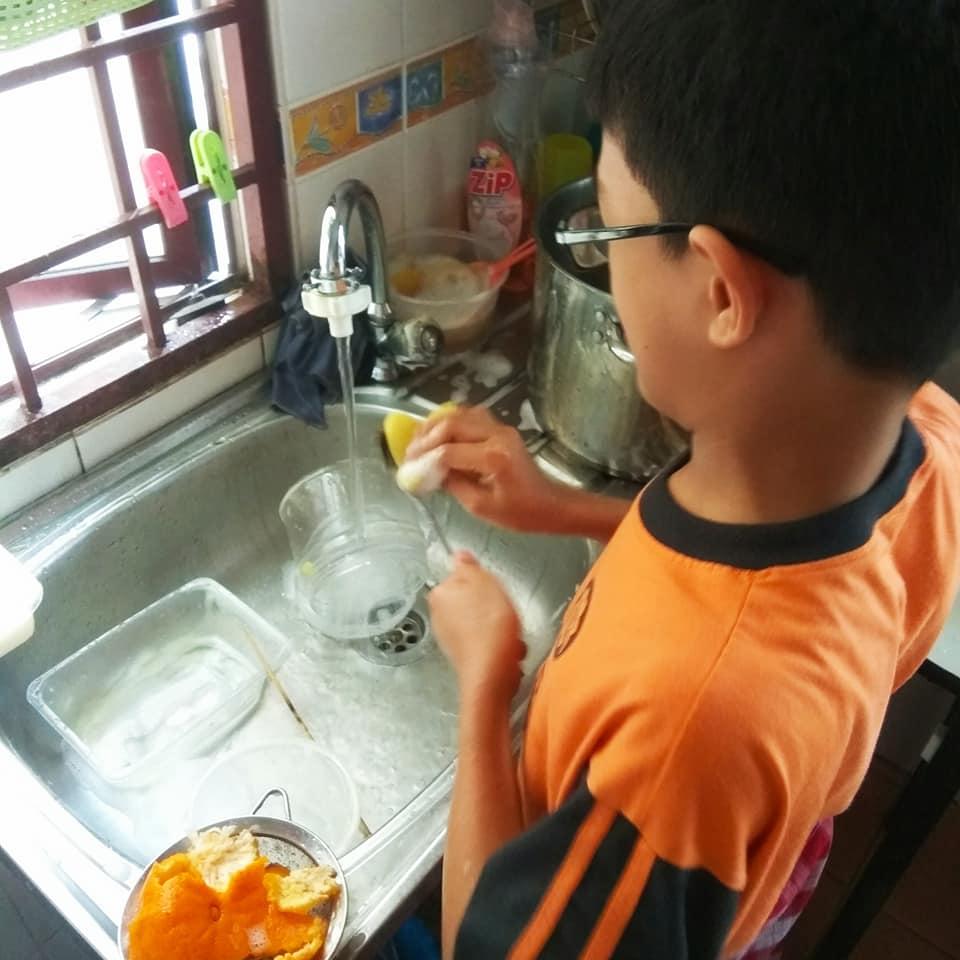 cuci pinggan